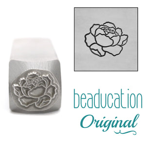 Peony Flower Metal Design Stamp, 10mm - Beaducation Original