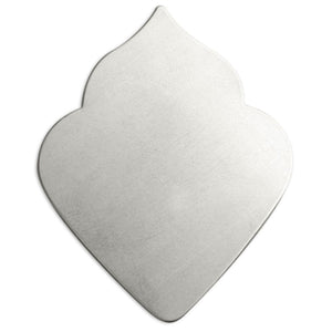 "Metal Stamping Blanks Alkeme Deco Leaf Petal, 47.5mm (1.87"") x 36.4mm (1.43""), 18 Gauge, Pack of 4"