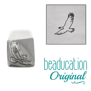 Eagle Flying Left Metal Design Stamp, 7mm - Beaducation Original