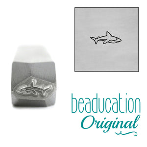 Baby Shark Swimming Right Metal Design Stamp, 6.5mm - Beaducation Original