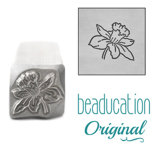 Daffodil Metal Design Stamp, March Birth Month Flower, 11mm - Beaducation Original