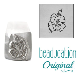 Gladiolus Metal Design Stamp, August Birth Month Flower, 11.2mm - Beaducation Original