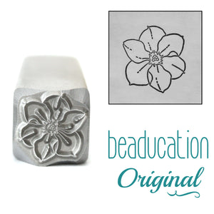 Narcissus Metal Design Stamp, December Birth Month Flower, 11mm - Beaducation Original