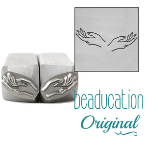 Hands, Set of Left and Right Metal Design Stamps, 11mm - Beaducation Original