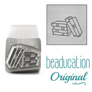 Stack of Books Metal Design Stamp, 11mm - Beaducation Original