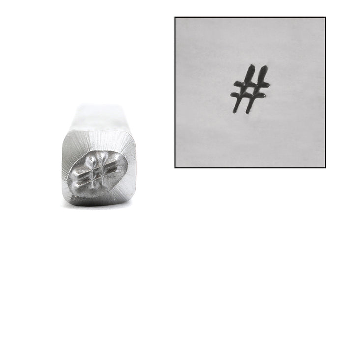 # Hashtag Metal Design Stamp, 4mm
