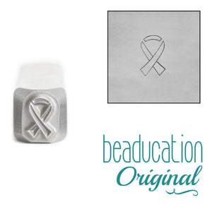 Metal Stamping Tools Awareness Ribbon Metal Design Stamp, 4mm - Beaducation Original
