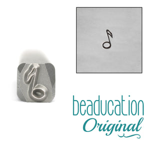 Metal Stamping Tools Musical Note Metal Design Stamp, 5mm - Beaducation Original