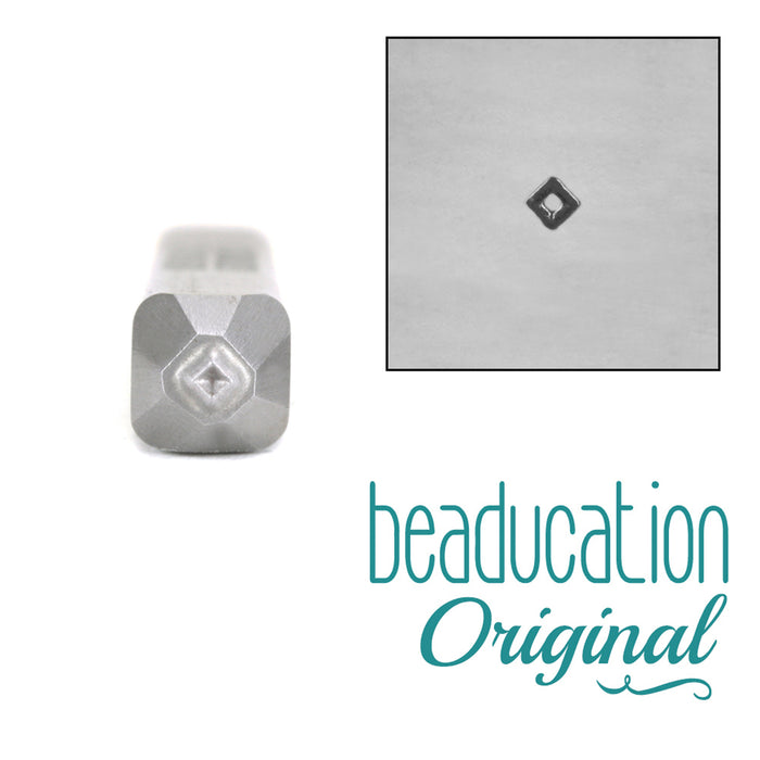 Tiny Diamond Metal Design Stamp, 1.5mm - Beaducation Original