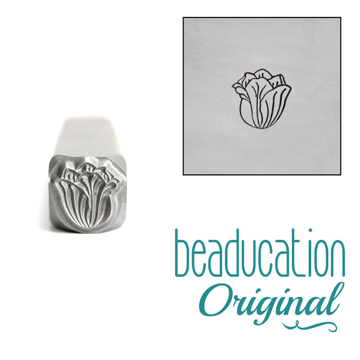 Tulip Flower  Metal Design Stamp, 5mm - Beaducation Original