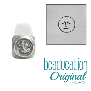 Metal Stamping Tools Full Moon with Face Metal Design Stamp, 5mm - Beaducation Original