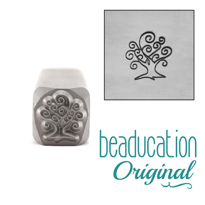 Small Tree of Life Metal Design Stamp 7.5mm - Beaducation Original