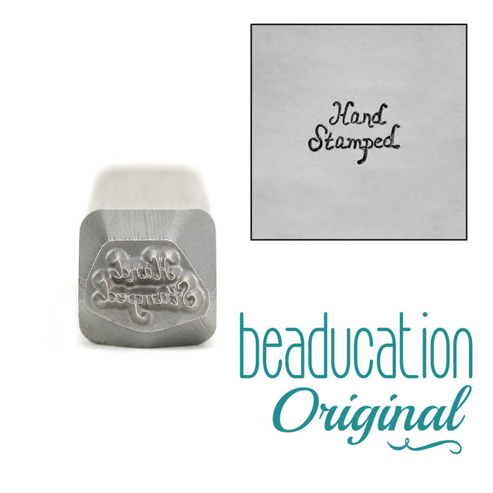 'Hand Stamped' Metal Design Stamp - Beaducation Original