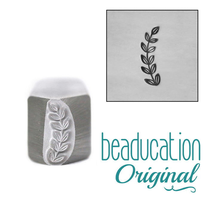 Caesar Branch Border Metal Design Stamp-Beaducation Original (Right Facing)