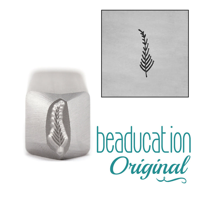 Fern / Feather Pointing Left Metal Design Stamp 9mm - Beaducation Original