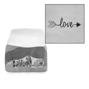 Metal Stamping Tools Love Arrow Metal Design Stamp, 13mm x 3.7mm, by Stamp Yours