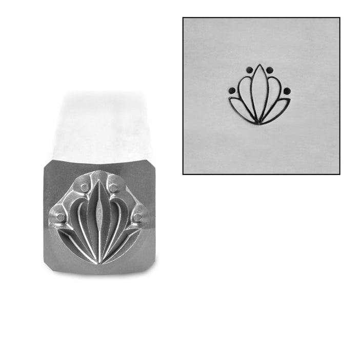 Art Deco Pattern 4 Metal Design Stamp, 6mm, by Stamp Yours