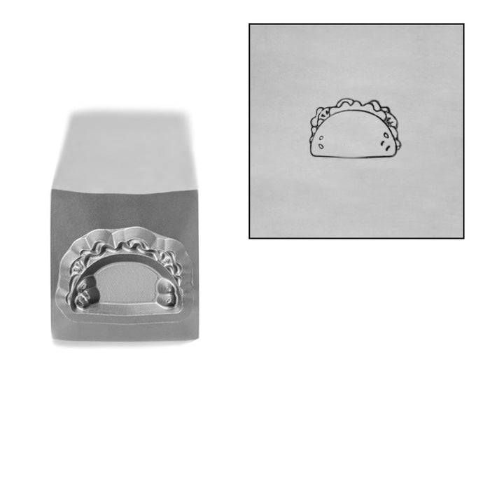 Taco Metal Design Stamp, 6mm by Stamp Yours