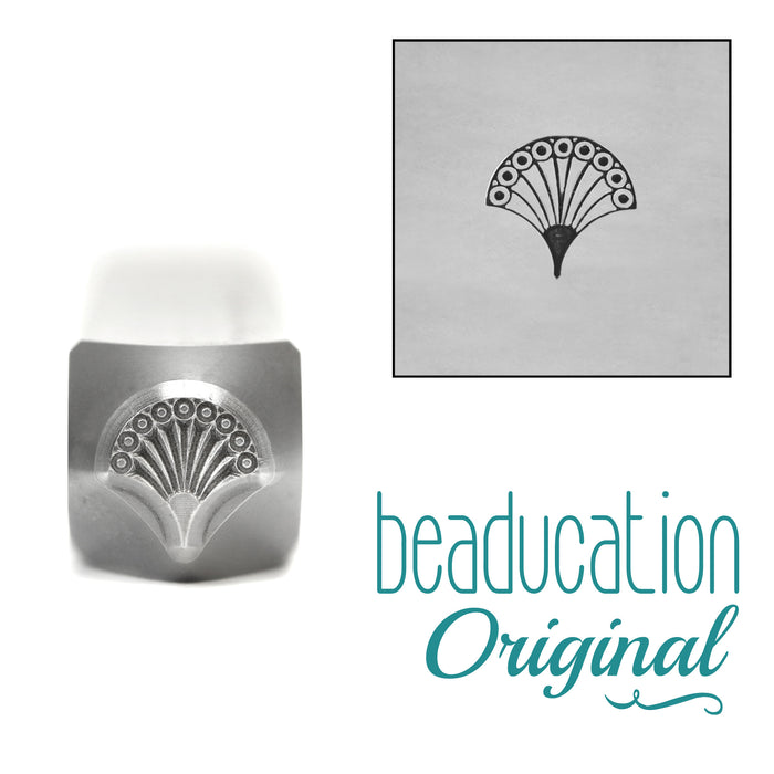 Fan 1, Art Deco Metal Design Stamp, 6mm, Beaducation Exact Series by Stamp Yours