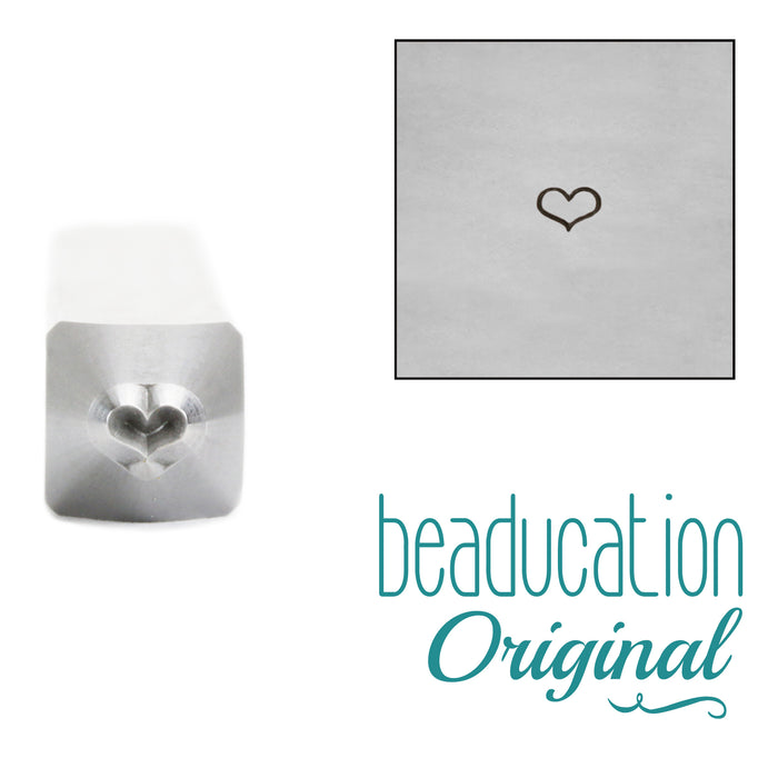 Fat Heart Metal Design Stamp, 2.5mm, Beaducation Exact Series by Stamp Yours