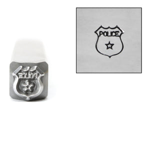 Metal Stamping Tools Police Badge Metal Design Stamp, 6mm, by Stamp Yours