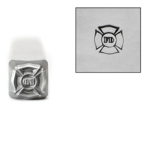 Metal Stamping Tools Firefighter Badge Metal Design Stamp, 6mm, by Stamp Yours