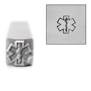 Metal Stamping Tools  Star of Life Medical Alert Metal Design Stamp, 8mm, by Stamp Yours