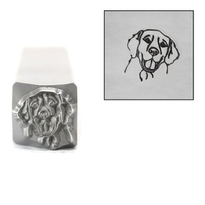 Metal Stamping Tools Golden Retriever Metal Design Stamp, 8mm, by Stamp Yours