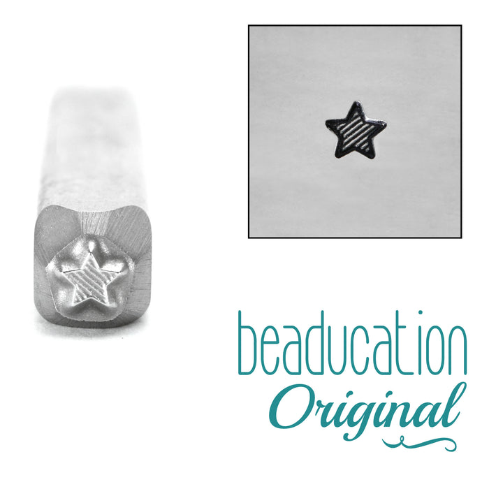 Lined Star Metal Design Stamp 3mm- Beaducation Original