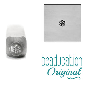 Metal Stamping Tools Daisy Flower Face 2mm Metal Design Stamp - Beaducation Original