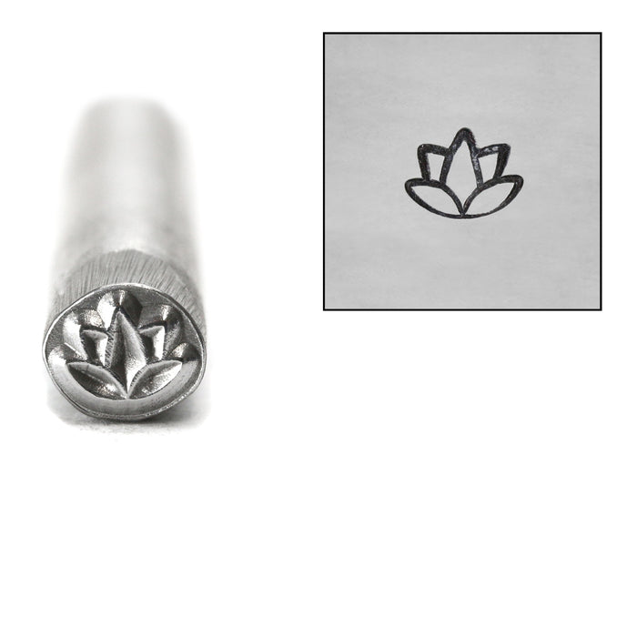 Lotus Flower Metal Design Stamp, 5mm