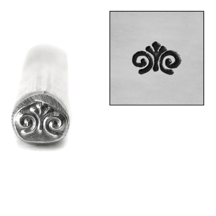Spiral Finial Metal Design Stamp, 5mm