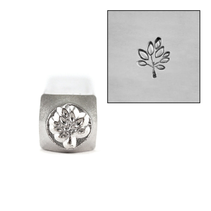 ImpressArt Leaf Tree Metal Design Stamp 6mm