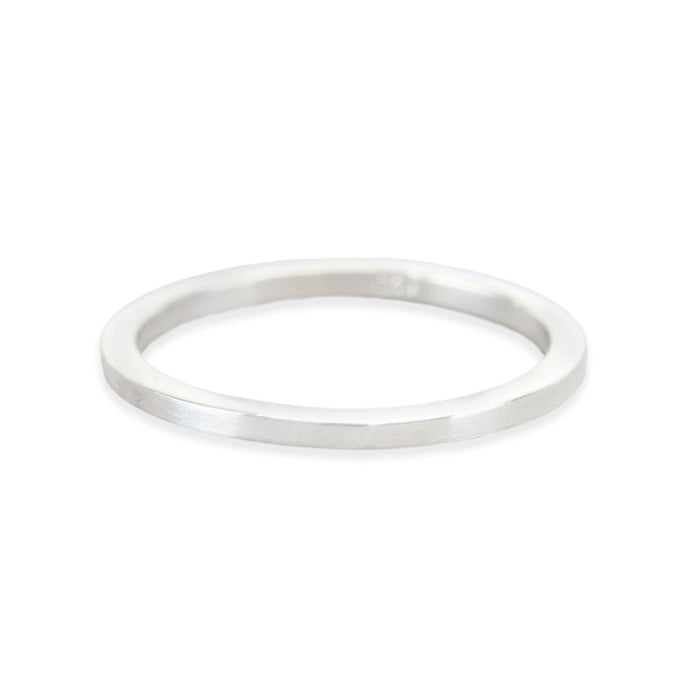 Sterling Silver Ring Stamping Blank, 1.5mm Wide, SIZE 9