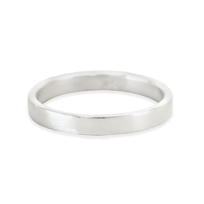 Sterling Silver Ring Stamping Blank, 3mm Wide, SIZE 9
