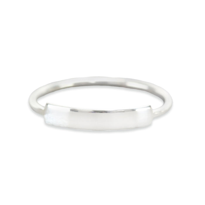 Sterling Silver Thin Tab Ring Stamping Blank, SIZE 4