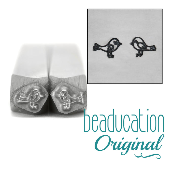 Love Birds Metal Design Stamp, 4mm - Beaducation Original