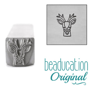 Metal Stamping Tools Deer Head Metal Design Stamp, 8mm - Beaducation Original