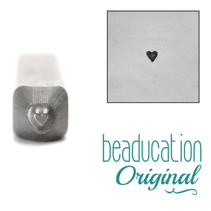 Solid Tall Heart Design Stamp, 1.7mm -  Beaducation Original