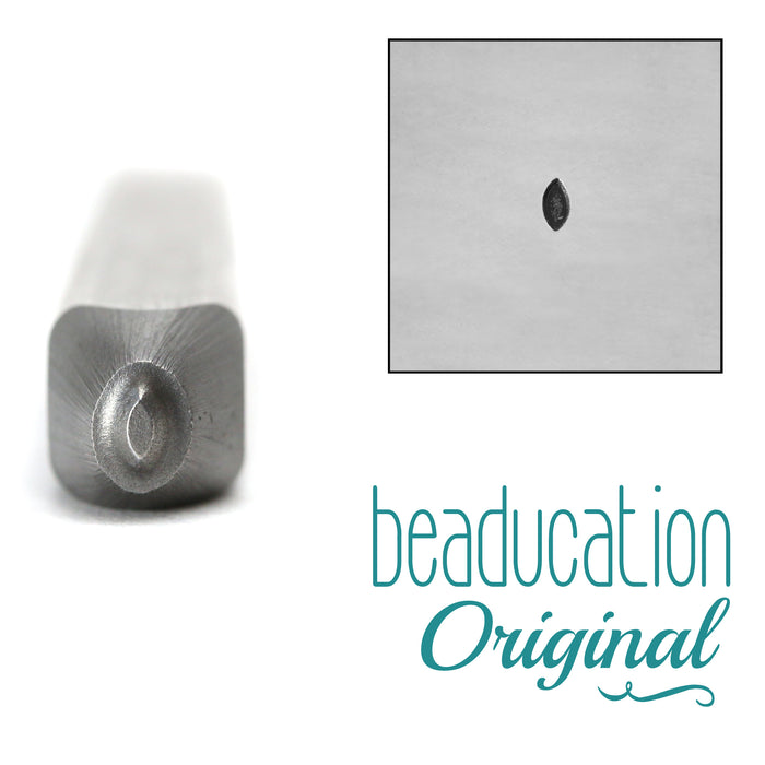 Solid Leaf Design Stamp, 2mm - Beaducation Original