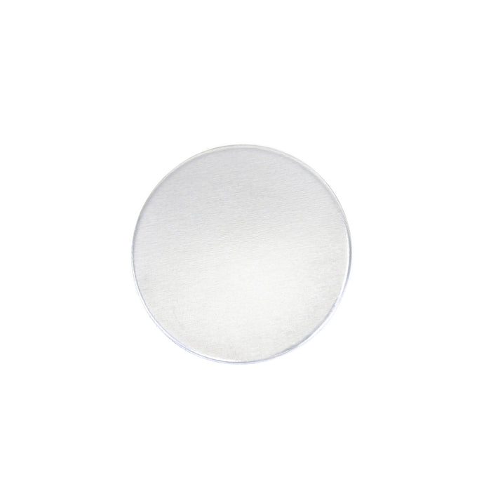 "Aluminum Round, Disc, Circle, 16mm (.63""), 12g, Pack of 5 - Tumbled"