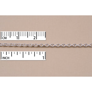Chain & Clasps Silver Filled Drawn Cable Chain, 3mm x 2mm, by the Inch