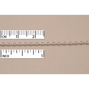 Chain & Clasps Sterling Silver Small Round Cable Chain, 2mm, by the Inch