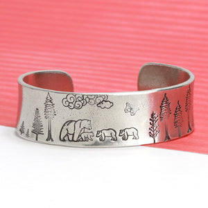 Baby Bear Walking Left Metal Design Stamp, 6.5mm - Beaducation Original