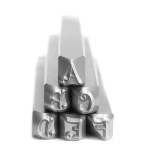 Beaducation Exact Series, Kismet Uppercase Letter Stamp Set 4.5mm, By Stamp Yours - Tapered Down Shanks