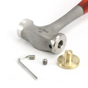 Fretz 1.5lb Stamping Hammer, Brass and Steel Faces