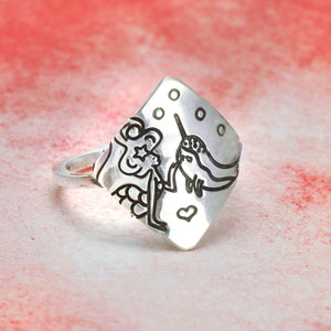 Fat Heart Metal Design Stamp 2mm - Beaducation Original