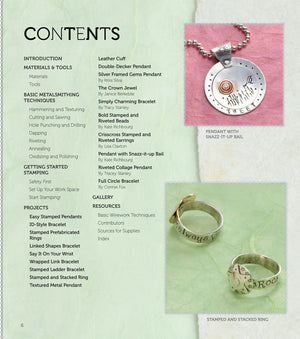 Stamped Metal Jewelry Book & DVD by Lisa Niven Kelly