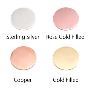 "Rose Gold Filled Round, Disc, Circle, 12.7mm (.50""), 20g"
