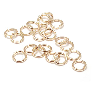 Jump Rings Gold Filled 4mm I.D. 18 Gauge Jump Rings, Pack of 20